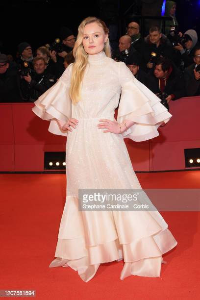 """Maria Dragus arrives for the opening ceremony and """"My Salinger Year"""" premiere during the 70th Berlinale International Film Festival Berlin at..."""