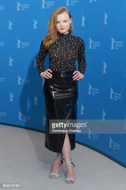 Maria Dragus attends the 'Tiger Girl' photo call during the 67th Berlinale International Film Festival Berlin at Grand Hyatt Hotel on February 10...