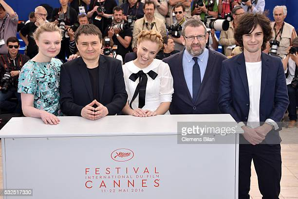 Maria Dragus Crisitan Mungiu Malina Manovic Adrian Titieni and Rares Andrici attend the 'Graduation ' Photocall during the 69th annual Cannes Film...