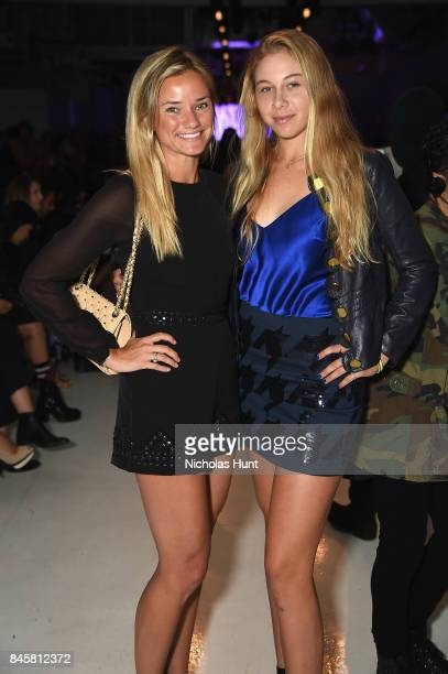 Maria Egee and Amanda Anisimova attend Mimi Prober fashion show during New York Fashion Week The Shows at Gallery 3 Skylight Clarkson Sq on September...