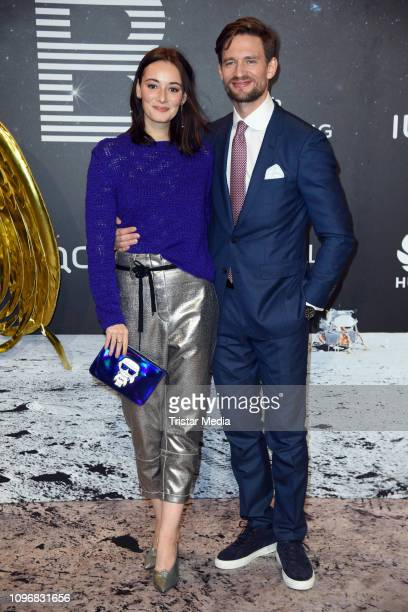 Maria Ehrich and August Wittgenstein attend the PLACE TO B Berlinale party during 69th Berlinale International Film Festival at Borchardt Restaurant...