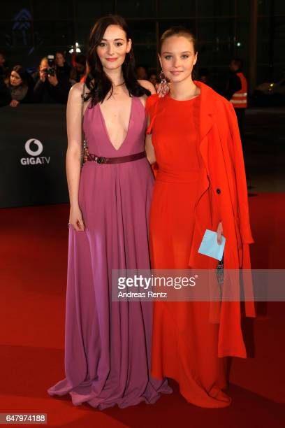 Maria Ehrich and Sonja Gerhardt arrive for the Goldene Kamera on March 4 2017 in Hamburg Germany
