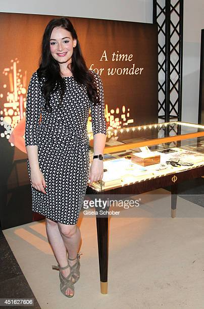 Maria Ehrich attends the presentation of the Baume Mercier 'Promesse' Ladies Collection at Haus der Kunst on July 2 2014 in Munich Germany