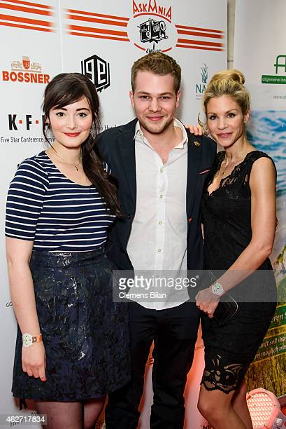 Maria Ehrich Ben Muenchow and Nina Gnaedig attend the Askania Award 2015 at Kempinski Hotel Bristol on February 3 2015 in Berlin Germany