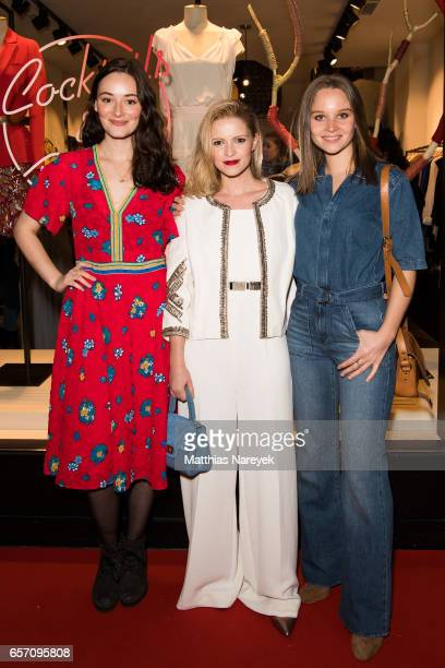 Maria Ehrich Jennifer Ulrich and Sonja Gerhardt attend the BaSh store opening on March 23 2017 in Berlin Germany