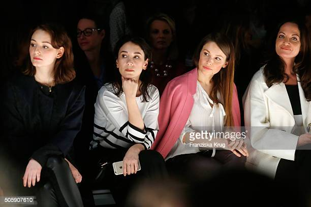 Maria Ehrich Sibel Kekilli Mina Tander and Natalia Woerner attend the Laurel show during the MercedesBenz Fashion Week Berlin Autumn/Winter 2016 at...