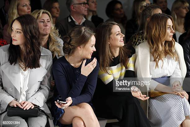 Maria Ehrich Sonja Gerhardt Alice Dwyer and Mina Tander attend the Laurel show during the MercedesBenz Fashion Week Berlin A/W 2017 at Kaufhaus...
