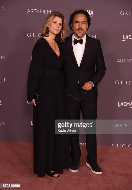 Maria Eladia Hagerman and Alejandro Gonzalez Inarritu attend the 2017 LACMA Art Film Gala Honoring Mark Bradford And George Lucas at LACMA on...