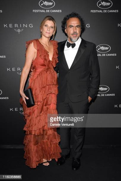 Maria Eladia Hagerman and Alejandro Gonzalez Inarritu attend the Kering and Cannes Film Festival Official Dinner at Place de la Castre on May 19 2019...