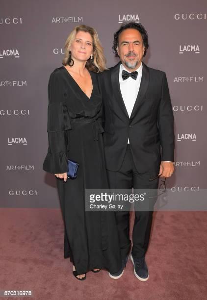 Maria Eladia Hagerman and director Alejandro González Iñárritu attend the 2017 LACMA Art Film Gala Honoring Mark Bradford And George Lucas at LACMA...