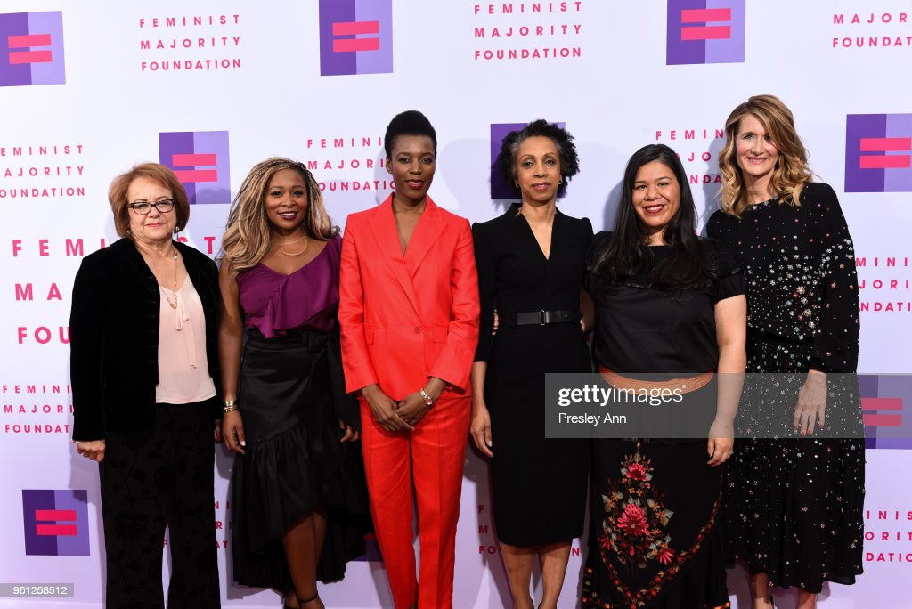 Maria Eleana Durazo, Adama Iwu, Elizabeth Nyamayaro, Nina Shaw, Monica Ramirez and Laura Dern attend 13th Annual Global Women's Rights Awards at Wallis Annenberg Center for the Performing Arts on May 21, 2018 in Beverly Hills, California.