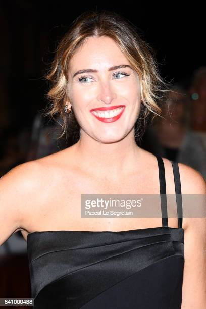 Maria Elena Boschi arrives at the dinner after the Opening Ceremony during the 74th Venice Film Festival at Excelsior Hotel on August 30 2017 in...