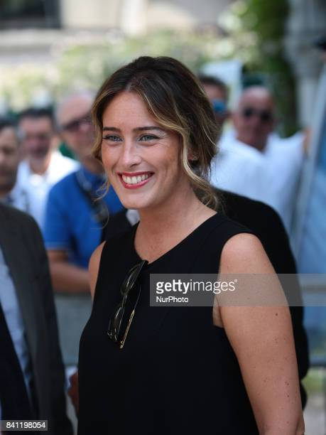 Maria Elena Boschi at the Hotel Excelsior during the 74th Venice Film Festival on August 31 2017 at Venice Lido