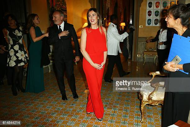 Maria Elena Boschi attends a party honouring Tom Hanks on October 13 2016 in Rome Italy
