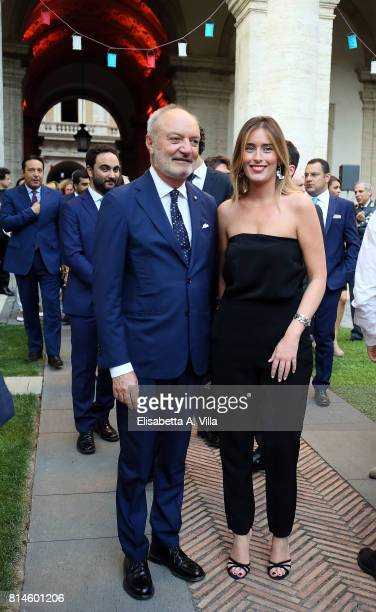 Maria Elena Boschi attends French National Day celebrations on July 14 2017 in Rome Italy