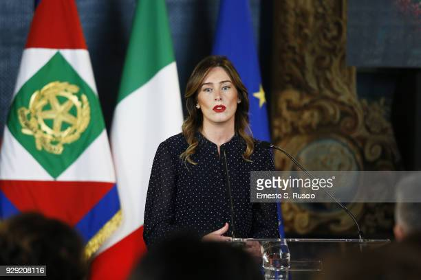 Maria Elena Boschi attends the International Women's Day Celebrations at Palazzo del Quirinale on March 8 2018 in Rome Italy