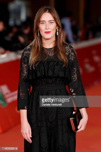 Maria Elena Boschi attends The Irishman red carpet during the 14th Rome Film Festival on October 21 2019 in Rome Italy