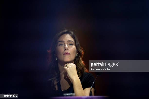 Maria Elena Boschi attends the national meeting of Italia Viva at Cinecittà studios on February 2 2020 in Rome Italy