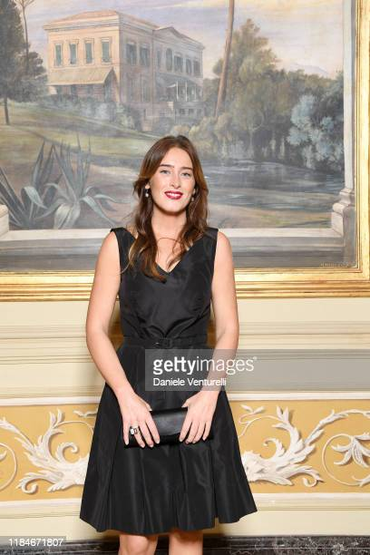 Maria Elena Boschi attends the Telethon dinner during the 14th Rome Film Festival on October 22 2019 in Rome Italy