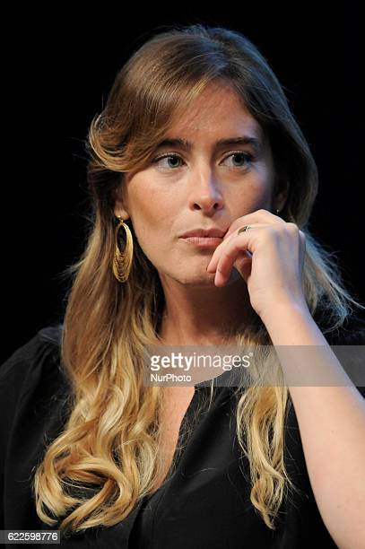 Maria Elena Boschi during the conference The Time of Women at the Milan Triennale in Milan on September 9 2016