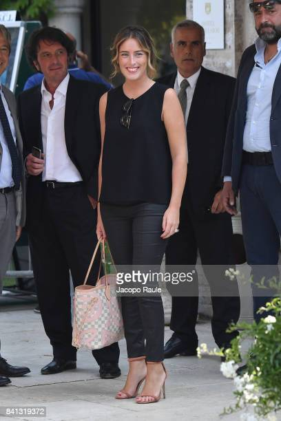 Maria Elena Boschi is seen during the 74 Venice Film Festival on August 31 2017 in Venice Italy