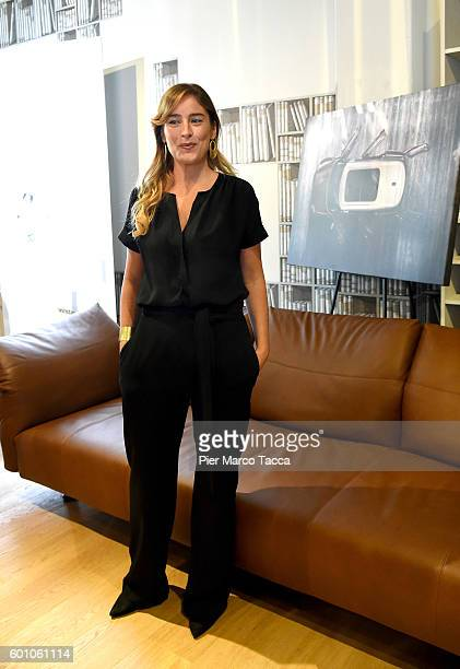 Maria Elena Boschi Minister for Constitutional Reforms and Relations with the Italian Parliament attends the 'Il Tempo Delle Donne' Festival on...