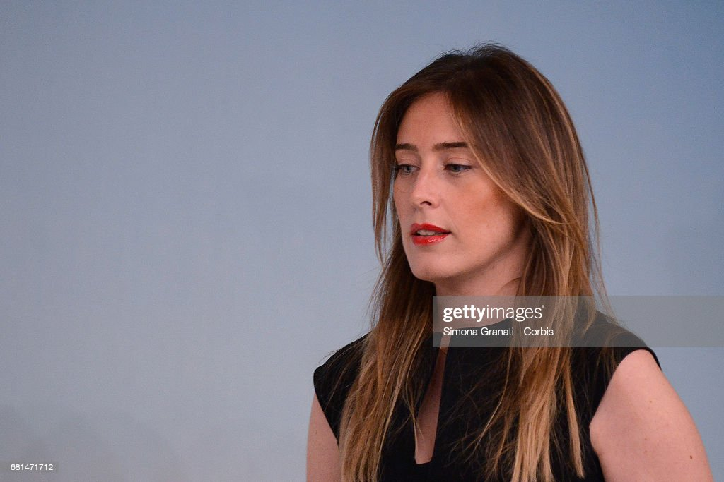 Maria Elena Boschi Attends Book Launch of 'ItaliaSicura' and Speaks Out On Banca Etruria Accusations : News Photo