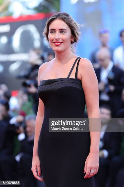 Maria Elena Boschi walks the red carpet ahead of the 'Downsizing' screening and Opening Ceremony during the 74th Venice Film Festival at Sala Grande...