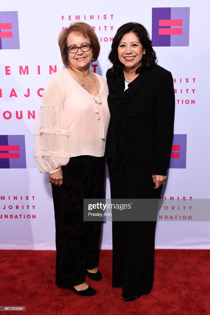 Maria Elena Durazo and Hilda Sous attend 13th Annual Global Women's Rights Awards at Wallis Annenberg Center for the Performing Arts on May 21, 2018 in Beverly Hills, California.