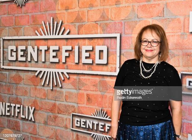 Maria Elena Durazo attends the premiere of Netflix's Gentefied at Plaza de la Raza on February 20 2020 in Los Angeles California