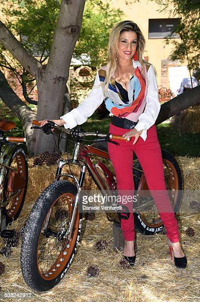 Maria Elena Fabi attends Matchless E Bike Presentation on June 5 2016 at Casone Ugolino in Castagneto Carducci near Livorno Italy