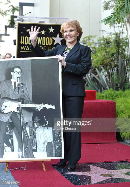 Maria Elena Holly attends a ceremony honoring Buddy Holly with the 2447th Star on the Hollywood Walk of Fame on September 7 2011 in Hollywood...