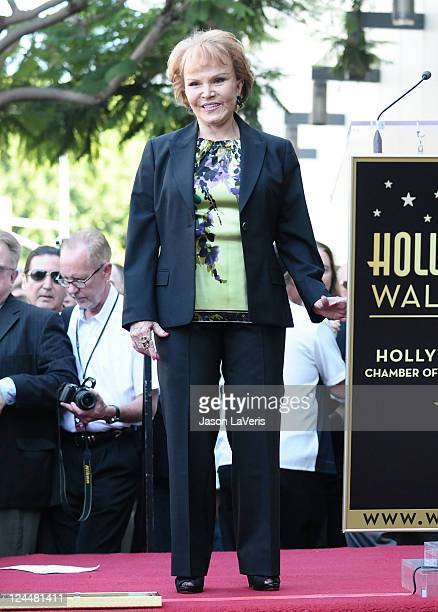 Maria Elena Holly attends Buddy Holly's induction into The Hollywood Walk of Fame on September 7 2011 in Hollywood California