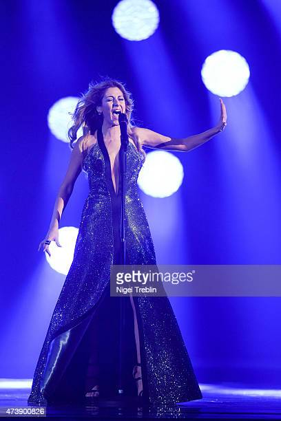 Maria Elena Kyriakou of Greece peforms during a rehearsal of the first Semin Final on May 18, 2015 in Vienna, Austria. The final of the Eurovision...