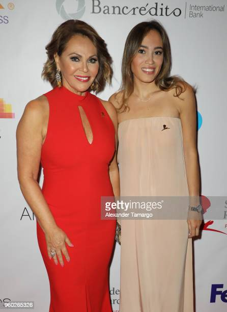 Maria Elena Salinas and Julia Alexandra Rodriguez are seen at the 16th Annual FedEx/St Jude Angels Stars Gala on May 19 2018 in Miami Florida
