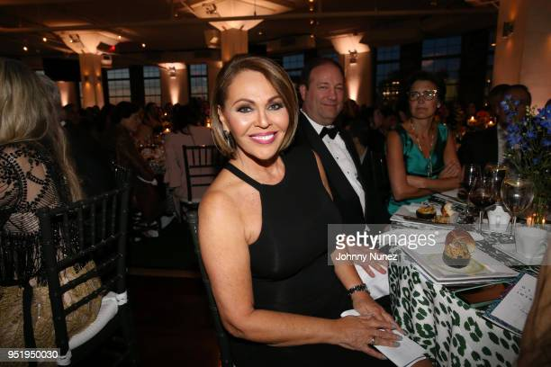 Maria Elena Salinas attends the 2018 Glasswing International Gala at Tribeca Rooftop on April 26 2018 in New York City