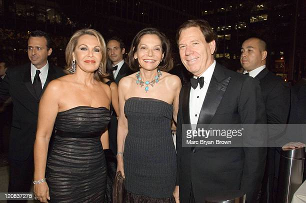 Maria Elena Salinas of Noticiero Univision Judy Price and NATAS President Peter Price at the 2nd annual Leaders of Spanish Language Television Emmy...
