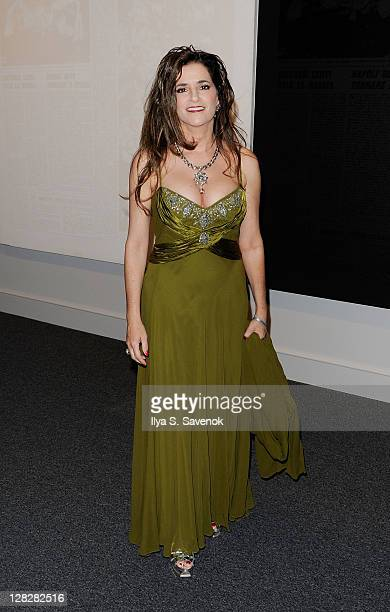 Maria Elena Tierno attends the Warhol Headlines exhibition opening in the East Building at the National Gallery of Art on October 5 2011 in...