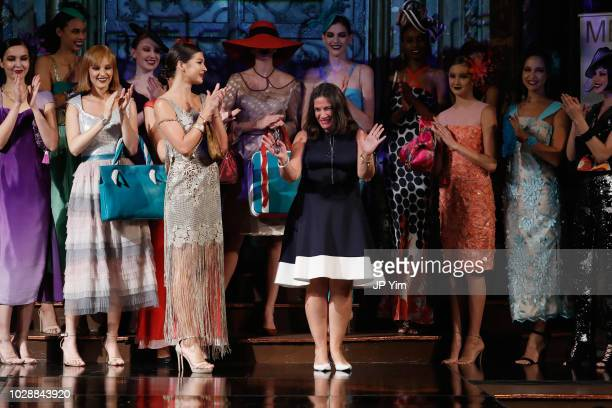 Maria Elena walks the runway during the Maria Elena Couture show during New York Fashion Week powered by Art Hearts at The Angel Orensanz Foundation...
