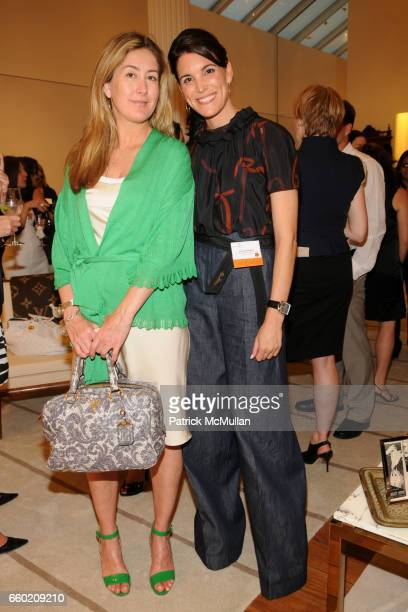 Maria Eliason and Amy Erbesfeld attend STEP UP Salon at LOUIS VUITTON Soho at Louis Vuitton Soho on July 15 2009 in New York City