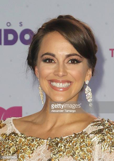 Maria Elisa Camargo arrives at Telemundo's Premios Tu Mundo Your World Awards at American Airlines Arena on August 25 2016 in Miami Florida