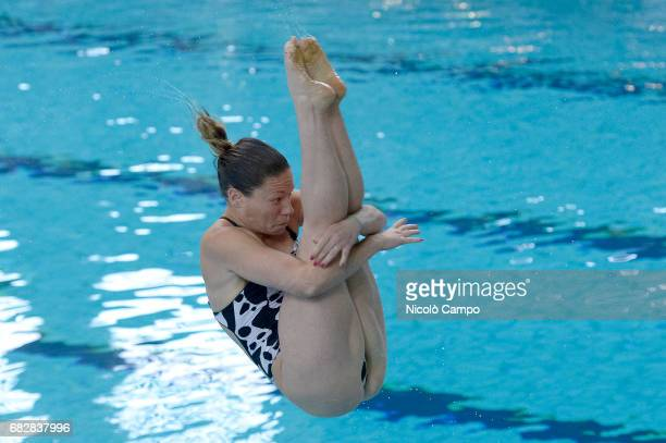 Maria Elisabetta Marconi competes in Women's 1m springboard qualifying round during the 2017 Indoor Diving Italian Championships