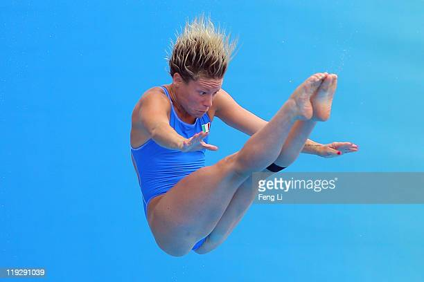 Maria Elisabetta Marconi of Italy competes in the Women's 1m Springboard preliminary round during Day Two of the 14th FINA World Championships at the...