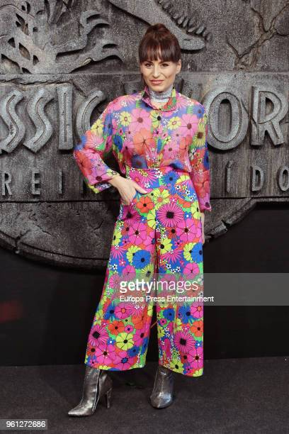 Maria Escote attends the 'Jurassic World Fallen Kindom' premiere at Wizink Center on May 21 2018 in Madrid Spain