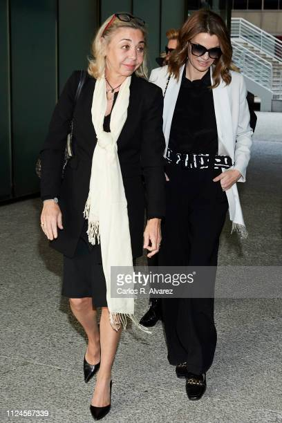 Maria Escudero and Alejandra Rojas attend the Elio Berhanyer Funeral Chapel at Museo del Traje on January 24 2019 in Madrid Spain