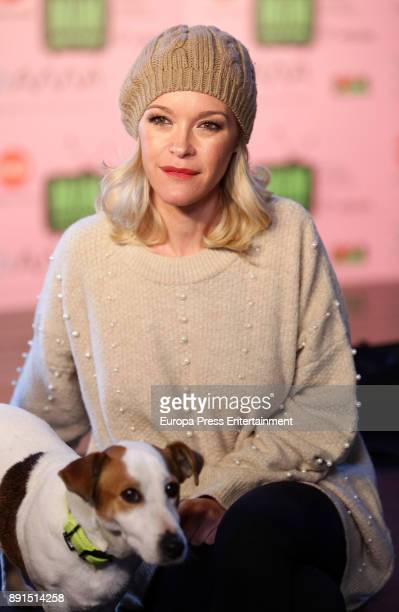 Maria Esteve and the dog Ramses attend the Presentation of 'Sabuesos' TVE during Mim Series Festival on December 12 2017 in Madrid Spain