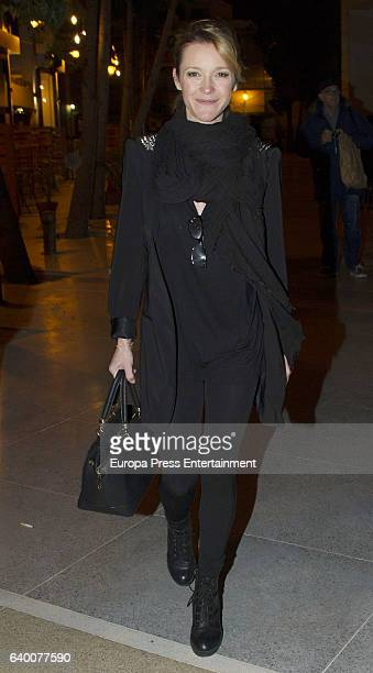 Maria Esteve attends Celia Flores concert '20 years from Marisol to Pepa Flores' at Cervantes Theatre on December 23, 2016 in Malaga, Spain.
