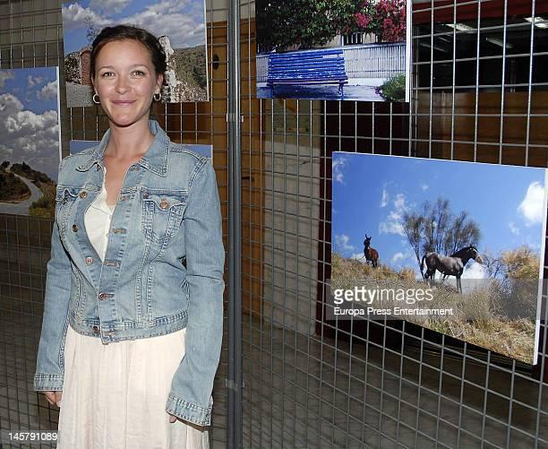 Maria Esteve attends her picture exhibition 'De Malaga Al Cielo' on May 16, 2012 in Malaga, Spain.