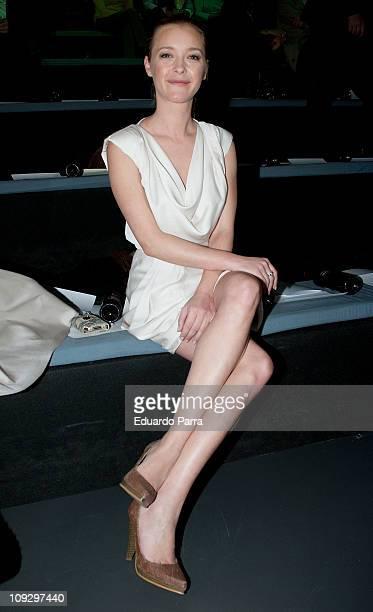Maria Esteve attends the Agatha Ruiz de la Prada fashion show during the Cibeles Madrid Fashion Week A/W 2011 at Ifema on February 19 2011 in Madrid...