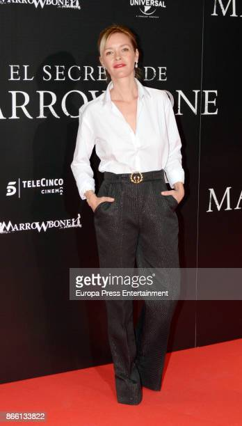 Maria Esteve attends the premier of 'El Secreto de Marrowbone' at Capitol cinema on October 24 2017 in Madrid Spain